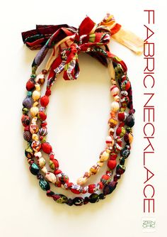 PDFtutorial for making a fabric necklace por ZenChicQuilts en Etsy, $4,99