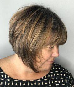 9 Interesting Clever Hacks: Older Women Hairstyles Shaved women hairstyles over 50 pictures. Bob Hairstyles With Bangs, Bob Haircuts For Women, Haircut For Older Women, Modern Haircuts, Cool Haircuts, Short Hairstyles For Women, Cool Hairstyles, Ladies Hairstyles, Haircuts For Over 50