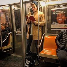 I hope it's not illegal to bring this fine Colombian product across the border, but honestly, I think it'd be a crime not to. If customs… Guys Read, Nyc Subway, I Still Love You, What Book, Man Images, Books For Boys, Pictures Of People, Books To Read, Reading Books