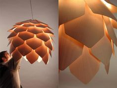 Crimen Pinecone Lamp by Pavel Eekra