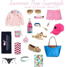 Summer Prep Essentials by emma-dean333 on Polyvore