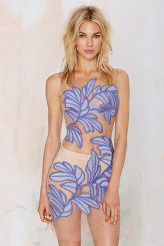 Nasty Gal x @forloveandlemon Chiquita Embroidered Dress