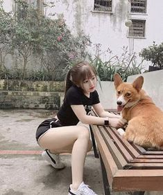 Dog or dog owner ? Cute Korean Girl, Cute Asian Girls, Cute Girls, The Most Beautiful Girl, Beautiful Asian Girls, Japonesas Hot, Uzzlang Girl, Japan Girl, Asia Girl