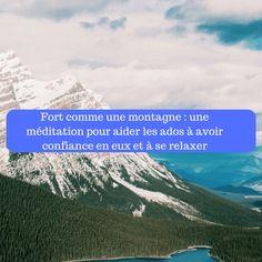Je vous invite à offrir à votre ado cette méditation qui lui permettra de se recentrer, de calmer son mental, de diminuer son stress et d'avoir plus confiance en lui grâce à l'image d&r…