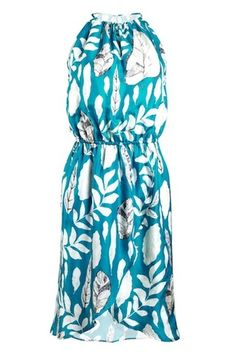 Turquoise and Gold Tulip Hem Dress : Rs. 9250/- | Findable.in
