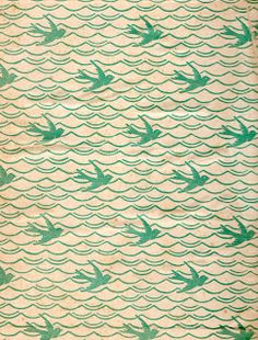 bird pattern from book end papers