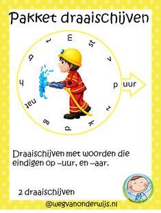 Spellingpakket draaischijven. Woorden met -uur en -aar aan het eind.