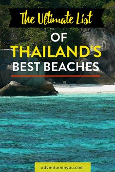 15 of the Best Beaches in Thailand that You NEED to Visit Planning a Trip to Thailand but unsure which beach to visit first? Here is the ultimate guide to some of the best beaches in Thailand! Thailand Vacation, Thailand Honeymoon, Thailand Travel Guide, Visit Thailand, Asia Travel, Solo Travel, Phuket Thailand, Croatia Travel, Italy Travel