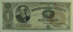 US Bill 1890 $1 Treasury (Stanton) Note