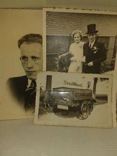 oude trouwfoto's v opa en oma