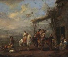 Johannes Lingelbach - Een jachtpartij