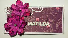 Madeleines Scrapp-blogg: Namnskylt Matilda