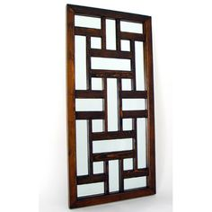 Ninpo Mirror from Oriental Furniture Window Grill Design Modern, Balcony Grill Design, Window Design, Brown Wall Mirrors, Wood Mirror, Frames On Wall, Framed Wall, Wall Art, Oriental Furniture