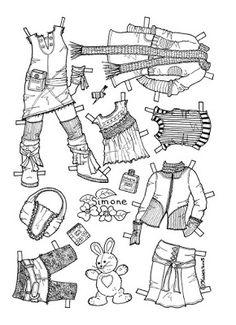 Karen`s Paper Dolls: Simone 1-6 Paper Doll to Colour. Simone 1-6…