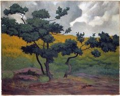 Landscape made in wood - Felix Vallotton