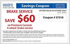 Ntb coupons for brake service