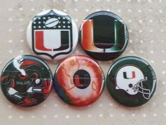 College Teams Miami Hurricanes Logos 1 Flat by BeyondAButtonShop