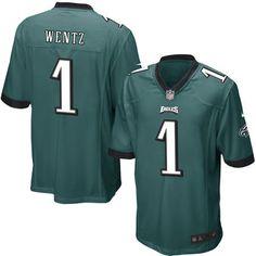 Nike Carson Wentz Philadelphia Eagles Green 2016 Draft Pick Game Jersey