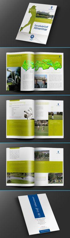 Diseño de folleto para la escuela de golf del hotel Almerimar Resort.