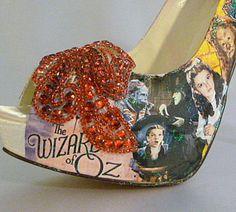 Wizard of Oz theme wedding shoes ..  bespoke by TessHarrissDesigns, $455.00