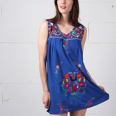 4669a3012d6 Hand Embroidered Mexican Dress by Erica Maree. Photo  Favor The Kind Mexican  Dresses