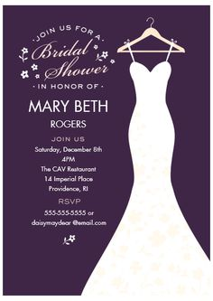 Bridal Shower Invitations Wedding Dress Yellow Gray White Gown Set Of 10 Printed Cards Free Shipping Elggr Elegant Pinterest