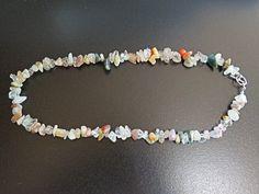 Lodolite Necklace.  Lodolite Chips.  Scenic Quartz.  Garden Quartz.  landscape Quartz  Lodolite is often used in meditation practices  393LN by NammersCrafts on Etsy