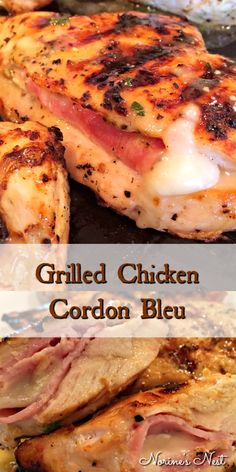 Grilled Chicken Cordon Bleu – Tender marinated chicken breast filled with ham and Swiss cheese. Perfectly grilled … and – Grilled Chicken Cordon Bleu – Tender marinated chicken breast filled with ham and Swiss cheese. Perfectly grilled … and – Great Chicken Recipes, Chicken Parmesan Recipes, Chicken Salad Recipes, Recipe Chicken, Chicken Ideas, Wedding Chicken Recipe, Chicken Glaze, Salmon Recipes, Grilled Chicken Cordon Bleu Recipe