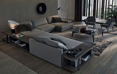 #Bristol #sofa by #Poliform: broad, soft and comfortable shapes