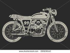 Vector Illustration of Grunge Motorcycle Vintage