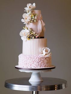 See some amazing wedding cakes from around the world to inspire your own wedding cake design - featuring everything from cheese towers to chocolate cakes Pastel Wedding Cakes, Big Wedding Cakes, Elegant Wedding Cakes, Elegant Cakes, Beautiful Wedding Cakes, Gorgeous Cakes, Wedding Cake Designs, Pretty Cakes, Amazing Cakes