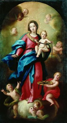 Nuestra Señora de la Correa The image of Our Lady of the Cord in Valencia, Spain. According to tradition, the devotion of wearing a belt in . Virgin Mary Art, Blessed Virgin Mary, Religious Images, Religious Art, Images Of Mary, Jesus Wallpaper, Sainte Marie, Mary And Jesus, Holy Mary