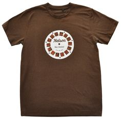 Mens Nelson retro viewfinder t shirt in coffee. Hand drawn and hand printed by Sonja in Nelson, New Zealand. Nelson New Zealand, Mens Tees, My Design, How To Draw Hands, Coffee, Retro, Prints, T Shirt, Tops
