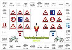 """Bingo für zwei (Verkehrszeichen)  Wie versprochen stelle ich nun die ersten farbigen Materialien zum Thema """"Verkehrserziehung"""" ein. Den Anf... Kids Learning, Montessori, Transportation, Kindergarten, Preschool, School Stuff, Lego, German Language, Languages"""