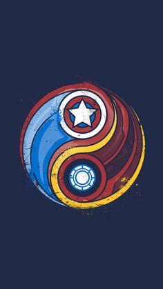 In-the Marvel: Iron Man vs. Captain America In-the Marvel: Iron Man vs. Marvel Avengers, Ultron Marvel, Thanos Marvel, Ms Marvel, Comics Spiderman, Iron Man Avengers, Marvel Art, Marvel Memes, Marvel Logo