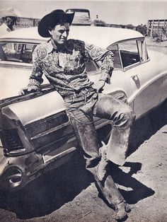 Texas cowboy and a 1958 Buick Special: LOOK magazine August 4, 1959