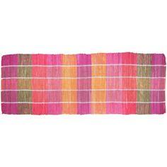 Universol - Tapis couloir MADRAS coton rose orange - GECDIF-04145-60x170cm: Amazon.fr: Cuisine & Maison