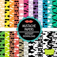 Hey, I found this really awesome Etsy listing at https://www.etsy.com/listing/128183431/35-off-sale-digital-paper-pack-mustache