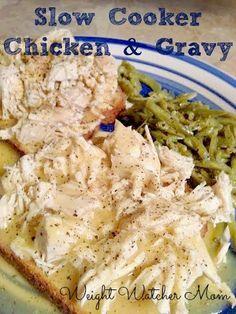 Weight Watcher Mom: Slow Cooker Chicken and Gravy