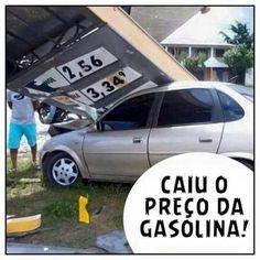 Caiu o preço da gasolina!