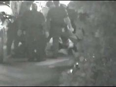 Security camera footage showing the police beating of Kelly Thomas, a mentally ill homeless man, at a Fullerton, California bus depot on the night of July 5, 2011. The altercation begins at 15:20.