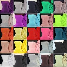 8d37771a382 Silk touch 4 way stretch jersey lycra fabric Q53 Dressmaking material  Draped Fabric, Viscose,