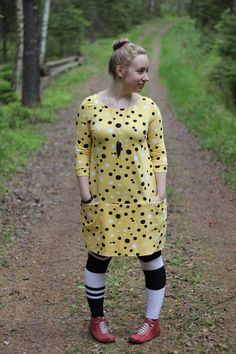 Combining three patterns for one perfect dress