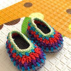 Crochet Slipper Pattern - Galilee Slippers (Child through Adult Sizes) Octopus Crochet Pattern Free, Baby Afghan Crochet Patterns, Crochet Slipper Pattern, Crochet Slippers, Baby Patterns, Crochet Baby Booties, Crochet Hats, Kids Slippers, Summer Slippers