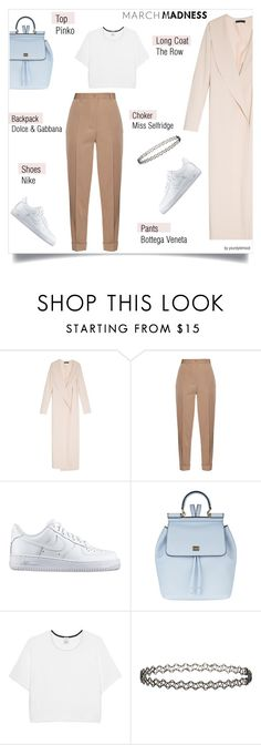 """March Madness - high tops"" by yourstylemood ❤ liked on Polyvore featuring The Row, Bottega Veneta, NIKE, Dolce&Gabbana, Pinko, Miss Selfridge, outfitoftheday, hightops and polyvorecontest"