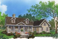 Eplans Country House Plan - Country Classic - 1652 Square Feet and 3 Bedrooms from Eplans - House Plan Code HWEPL07198