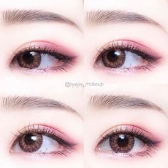 Whenever you do eye makeup, make your eyes look brighter. Your eye make-up need to make your eyes stand out amongst the other functions of your face. Korean Makeup Look, Korean Makeup Tips, Korean Makeup Tutorials, Asian Eye Makeup, Korean Beauty, Korean Makeup Products, Eyeshadow Tutorials, Asian Beauty, Makeup Trends