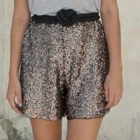 DIY SEQUIN SHORTS - Will make these this year!
