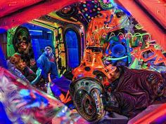 Deep dream turned my Cosmic Cavern mirror selfie into a robotic nautilus kickin it with some humanoids. #deepdream #nautilus #cosmicavern #sundayfunday #portland #reflection #trippy #sgcbus #supergroovycosmicbus #pdx #kennyscharf by sgcbus