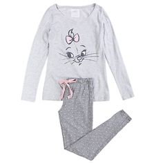 Cat design on pajama top - Comfy things for the home - Cartoon P.J.'s